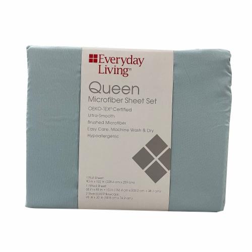 Everyday Living® Winter Sky Queen Microfiber Sheet Set Perspective: front