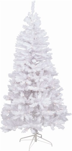 Holiday Home Pre-Lit Artificial Tree - White/Clear Perspective: front