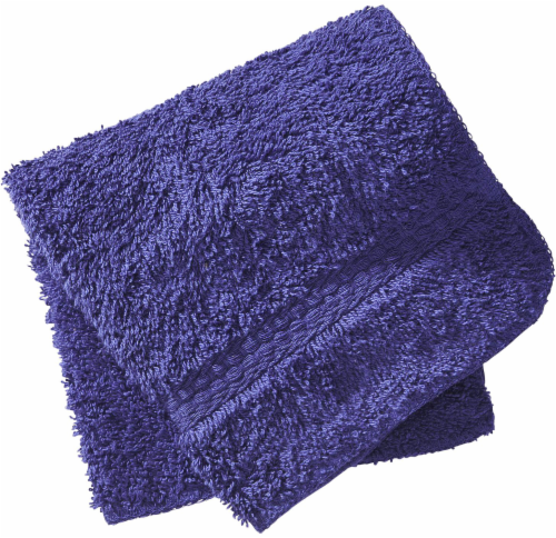 Everyday Living Washcloth - Mazarine Blue Perspective: front