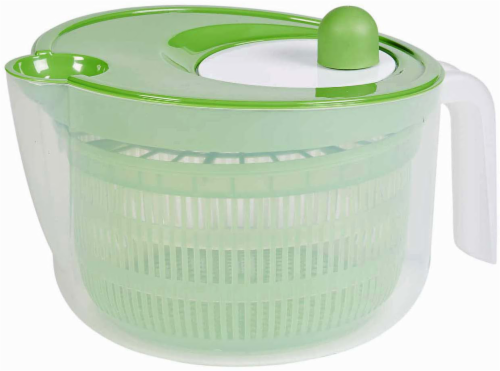 Everyday Living Salad Spinner - Green/Clear Perspective: front