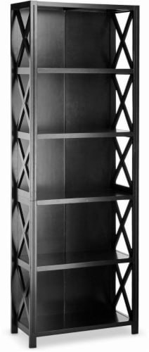 Fred meyer hd designs 6 tier x sided bookcase black hd designs 6 tier x sided bookcase black perspective front publicscrutiny Gallery