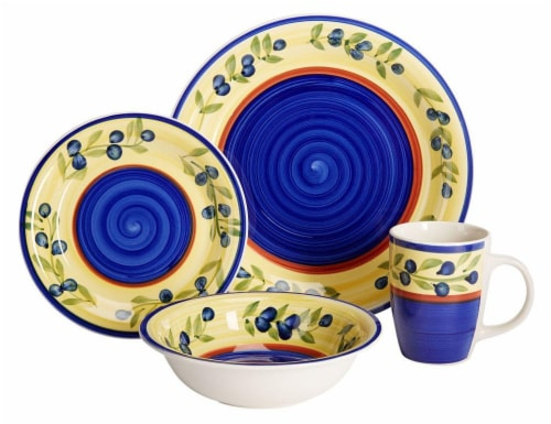 HD Designs Cynthia 16-Piece Dinnerware Set Perspective front  sc 1 st  Kroger : kroger dinnerware - pezcame.com