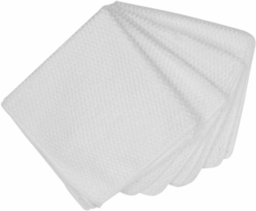 Everyday Living Honeycomb Microfiber Bar Cloths - White Perspective: front