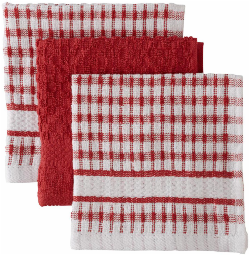 Everyday Living Popcorn Dishcloths - Paprika Perspective: front