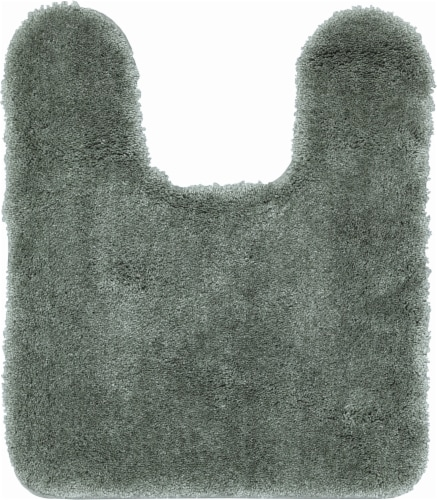Performance Quick Dry Contour Bath Rug - Sage Green Perspective: front