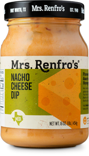 Mrs. Renfro's Nacho Cheese Sauce Dip Perspective: front