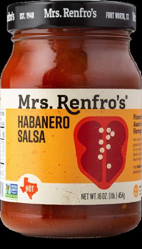 Mrs. Renfro's Hot Habanero Salsa Perspective: front