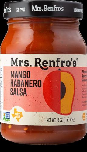 Mrs. Renfro's Medium Hot Mango Habanero Salsa Perspective: front