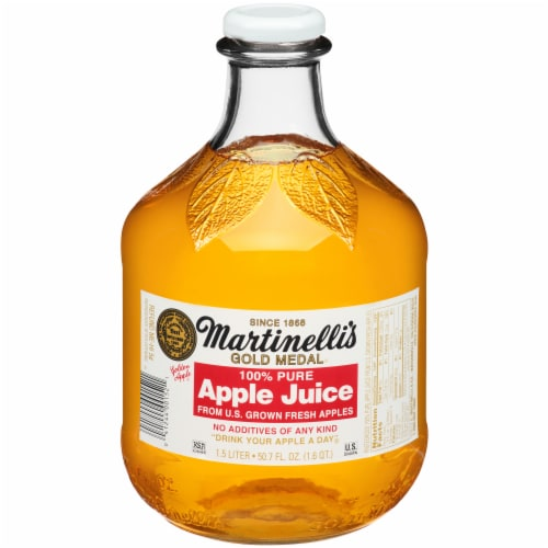Martinelli's Gold Medal 100% Pure Apple Juice Perspective: front