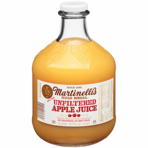 Martinelli's Unfiltered Apple Juice Perspective: front