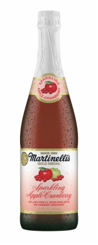 Martinelli's Sparkling Apple-Cranberry Juice Perspective: front