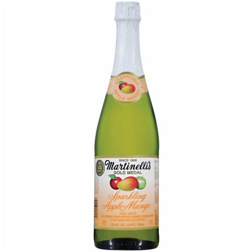 Martinelli's Gold Medal Sparkling Apple Mango Juice Perspective: front