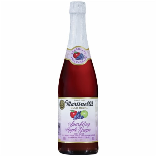 Martinelli's Sparkling Apple-Grape Juice Perspective: front