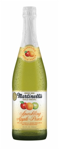 Fry S Food Stores Martinelli S Gold Medal Sparkling Apple Peach Juice 25 4 Fl Oz