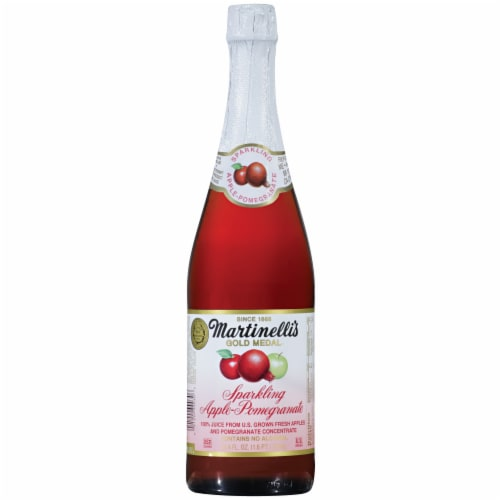 Martinelli's Gold Medal Sparkling Apple-Pomegranate Juice Perspective: front