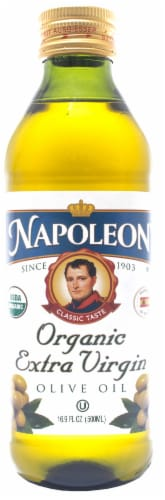 Napoleon Organic Extra Virgin Olive Oil Perspective: front
