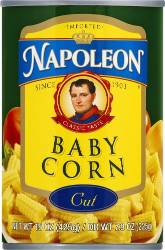 Napolean Cut Baby Corn Perspective: front