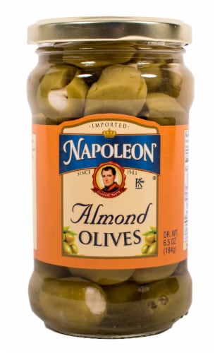 Napolean Almond Stuffed Olives Perspective: front