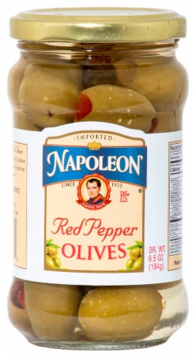 Napoleon Sweet Pepper Stuffed Olives Perspective: front