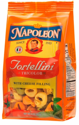 Napoleon Tricolor Tortellini with Cheese Filling Perspective: front