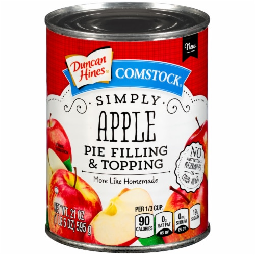 Duncan Hines Comstock Simply Apple Pie Filling & Topping Perspective: front