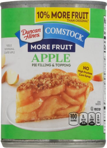 Duncan Hines Comstock More Fruit Apple Pie Filling & Topping Perspective: front