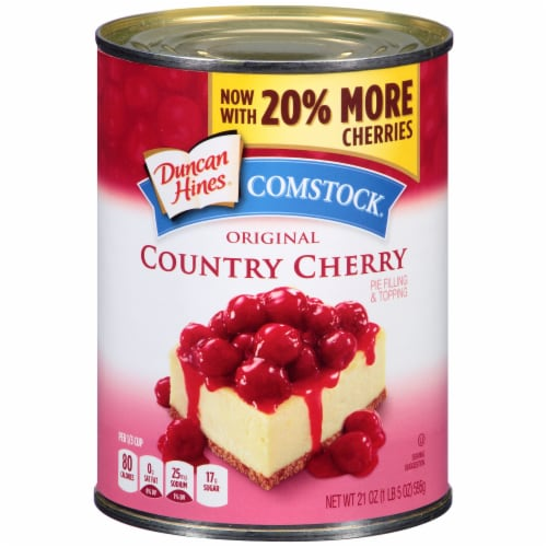 Duncan Hines® Comstock® Original Country Cherry Pie Filling & Topping Perspective: front