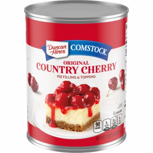 Duncan Hines Comstock Original Cherry Pie Filling & Topping Perspective: front