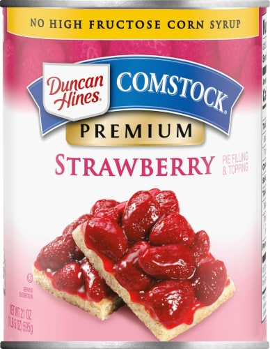 Duncan Hines Comstock Premium Strawberry Filling Perspective: front