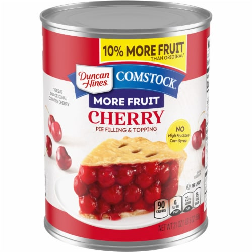 Duncan Hines Comstock More Fruit Cherry Filling & Topping Perspective: front