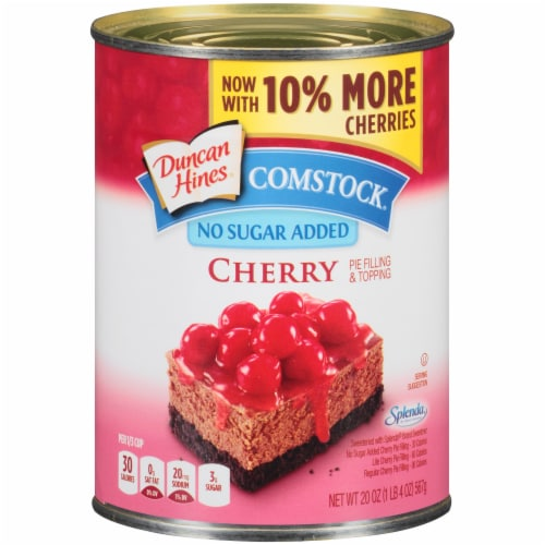 Duncan Hines Comstock No Sugar Added Cherry Pie Filling & Topping Perspective: front