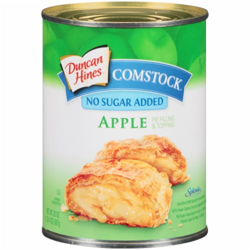 Duncan Hines Comstock No Sugar Added Apple Pie Filling & Topping Perspective: front