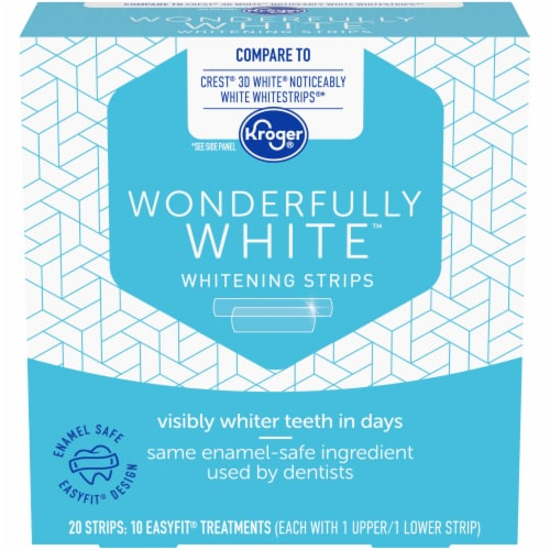 Kroger® Wonderfully White Whitening Strips Perspective: front