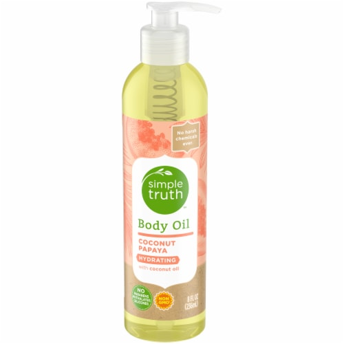 Simple Truth™ Coconut Papaya Body Oil Perspective: front