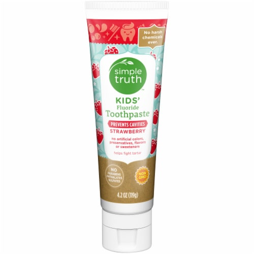 Simple Truth™ Strawberry Kids' Fluoride Toothpaste Perspective: front
