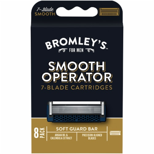 Bromley's™ For Men Smooth Operator 7-Blade Razor Cartridges Perspective: front