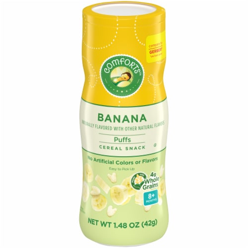 Comforts™ Banana Puffs Cereal Snack Perspective: front
