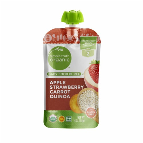 Simple Truth Organic™ Apple Strawberry Carrot Quinoa Stage 2 Baby Food Puree Perspective: front