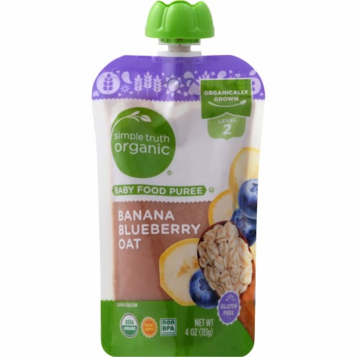 Simple Truth Organic™ Banana Blueberry Oat Stage 2 Baby Food Perspective: front