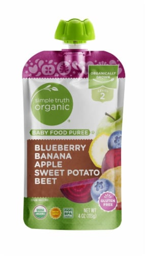Simple Truth Organic™ Beets Sweet Potato Apple Stage 2 Baby Food Perspective: front