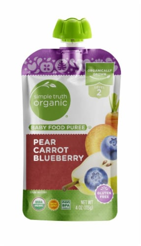 Simple Truth Organic™ Pear Carrot Blueberry Stage 2 Baby Food Perspective: front