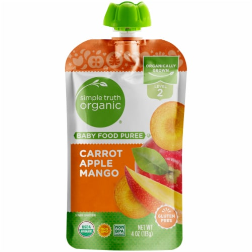 Simple Truth Organic™ Carrot Apple Mango Stage 2 Baby Food Puree Perspective: front