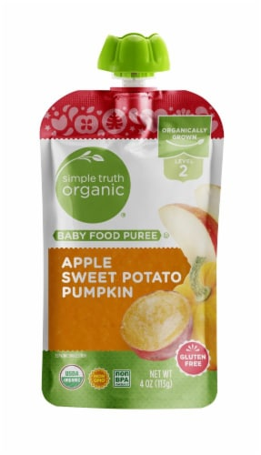 Simple Truth Organic™ Apple Sweet Potato Pumpkin Stage 2 Baby Food Perspective: front