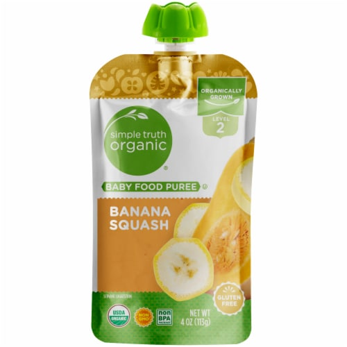 Simple Truth Organic™ Banana Squash Stage 2 Baby Food Perspective: front
