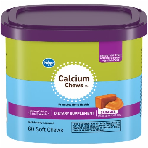 Kroger® Calcium Chews Dietary Supplement Caramel Soft Chews Perspective: front