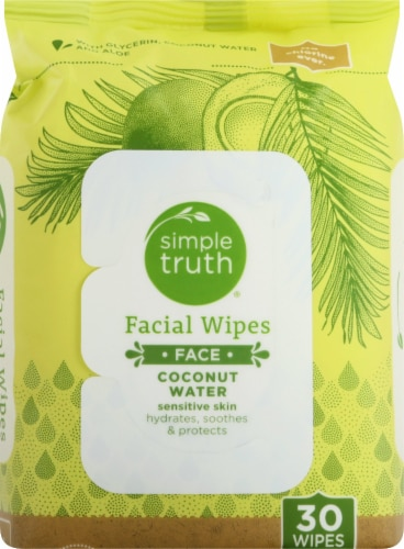 Simple Truth™ Coconut Water Sensitive Skin Facial Wipes Perspective: front
