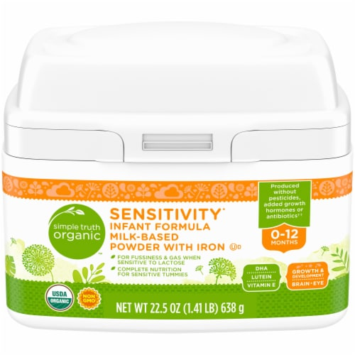 Simple Truth Organic™ Sensitivity Infant Formula Milk-Based Powder with Iron Perspective: front