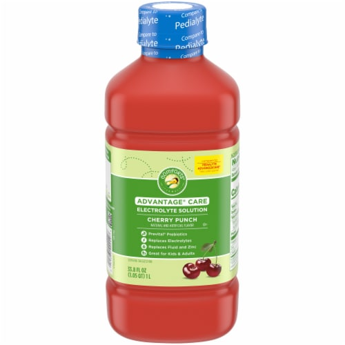 Comforts™ Cherry Punch Flavored Advantage Care Electrolyte Solution Perspective: front