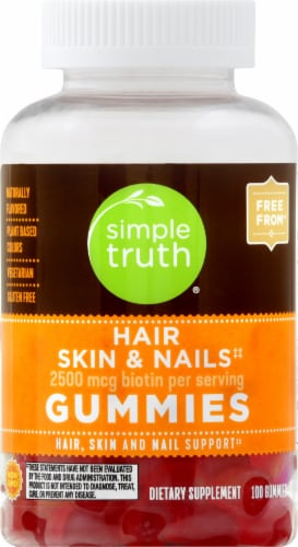 Simple Truth™ Hair Skin & Nails Gummies 2500mcg Perspective: front