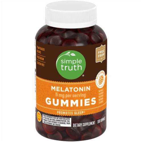 Simple Truth™ Blackberry Melatonin Gummies Perspective: front